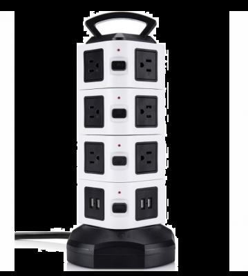 Prelungitor vertical cu 15 Prize, 2 Port USB