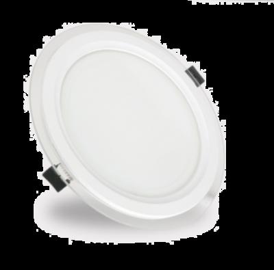 Aplica rotunda cu margini de sticla, 12W, 16cm