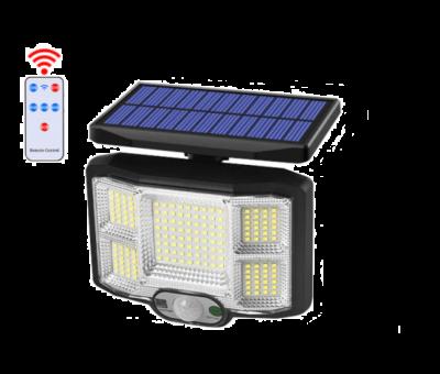 Lampa solara de exterior cu senzor de miscare, 168 SMD, JD-2168