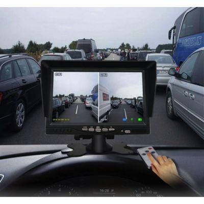 Monitor auto cu 2 camere pentru tiruri, camioane, autocare