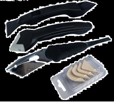 Set unelte pentru aplicare si eliminare silicon, 3 piese