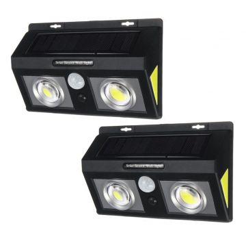 Set 2 Lampi solare Dubla 61 LED cu senzor miscare si senzor lumina