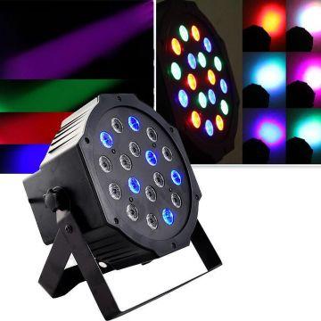 Proiector PAR RGB 18 LED cu joc lumini
