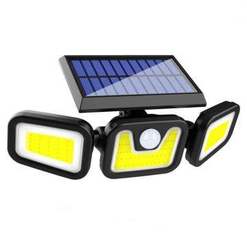 Proiector Solar 100 LED cu 2 brate mobile si senzor miscare