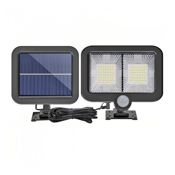 Proiector LED cu panou solar, senzor de miscare, 98 LED