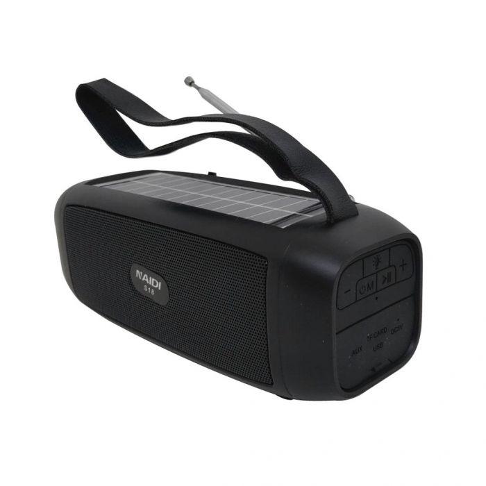 Boxa solara bluetooh S18 portabila, lanterna incorporata