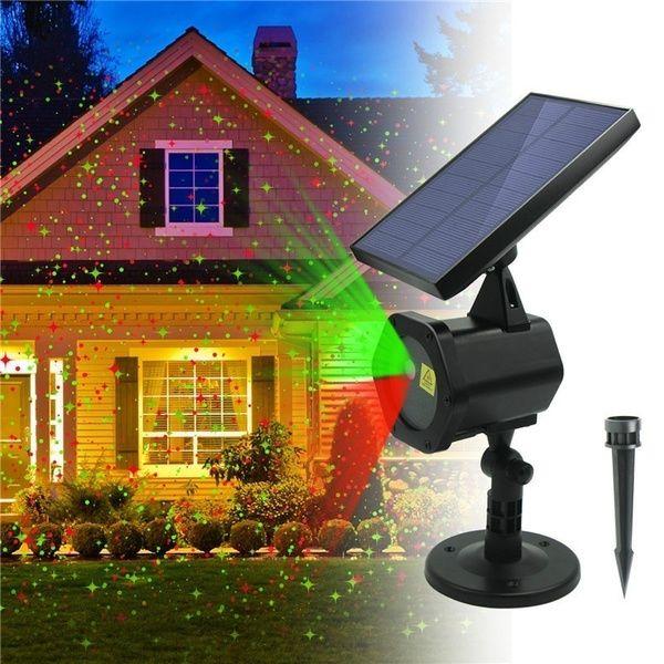 Proiector laser Solar Hoff pentru Craciun, interior-exterior, rosu-verde