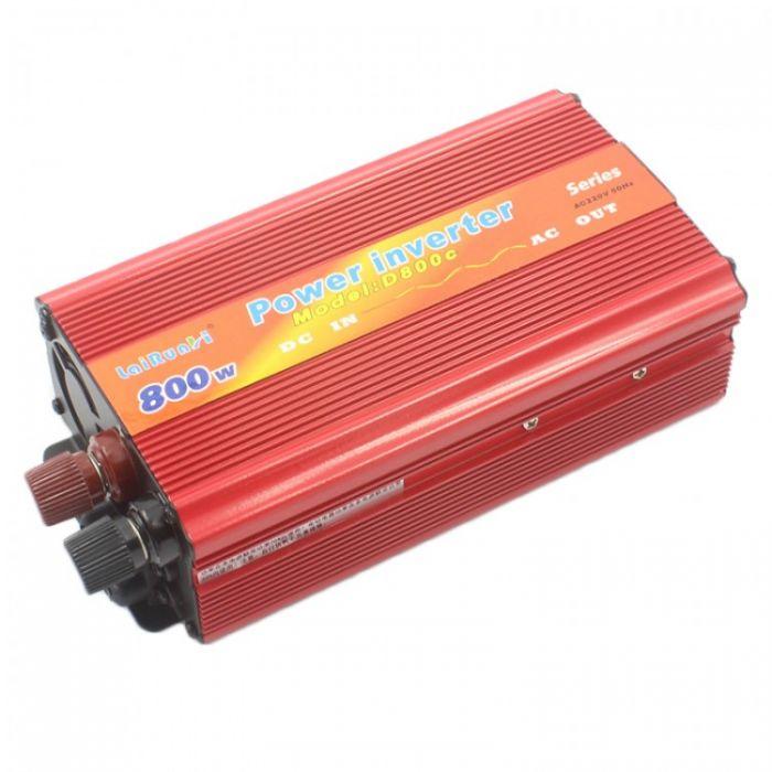 Invertor de tensiune auto, putere 800W, 12v-220v