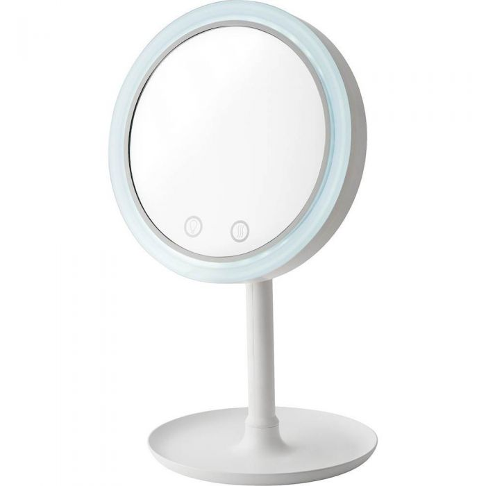 Oglinda de machiaj cu LED si ventilator, factor marire 5x