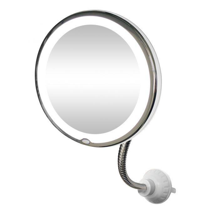 Oglinda cosmetica LED cu factor marire 10x si brat flexibil