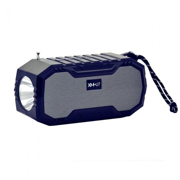Boxa solara portabila XMU7max cu lanterna incorporata