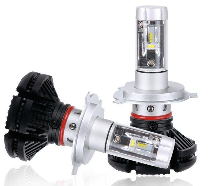 Set 2 becuri led auto X3 H1 50W 6000 lumeni