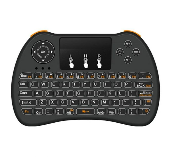 Mini tastatura Wireless portabila, mouse integrat si acumulator