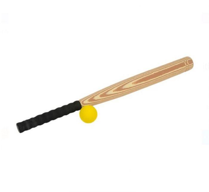 Bata de baseball cu invelis moale si minge
