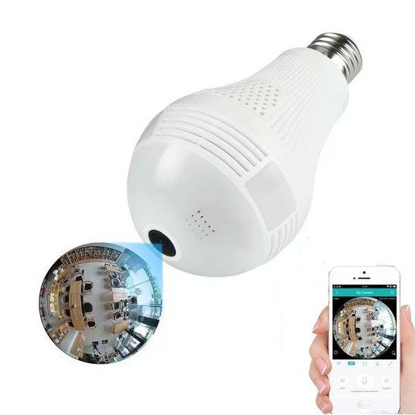 Bec cu camera de supraveghere ip wireless incorporata
