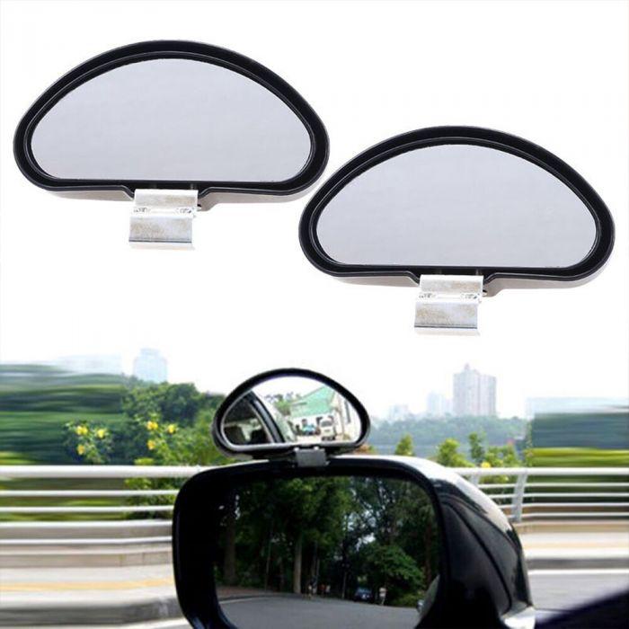 Set de 2 oglinzi auto auxiliar, cu clema, pentru unghiul mort