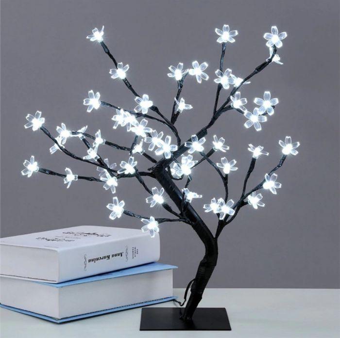 Mini Copac Bonsai cu 36 LED, alb