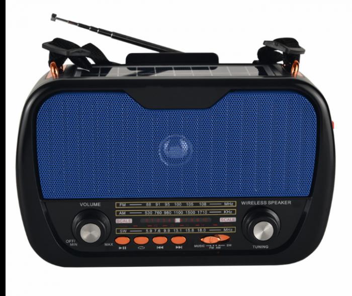 Boxa Solara cu radio, suport de telefon si lanterna, FP-273-S