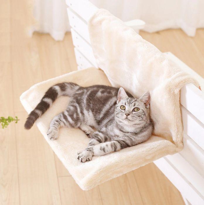 Pat cu suport de calorifer pentru pisici
