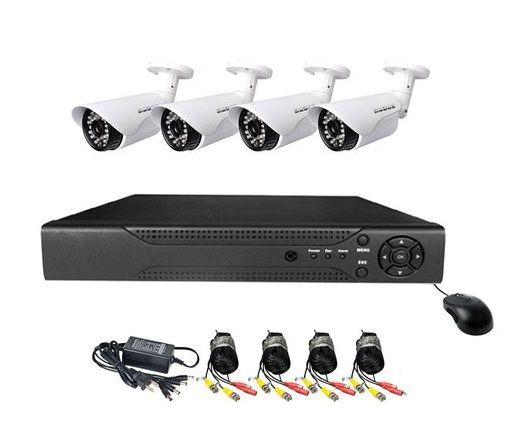 Sistem DVR cu 4 camere de exterior CCTV HD