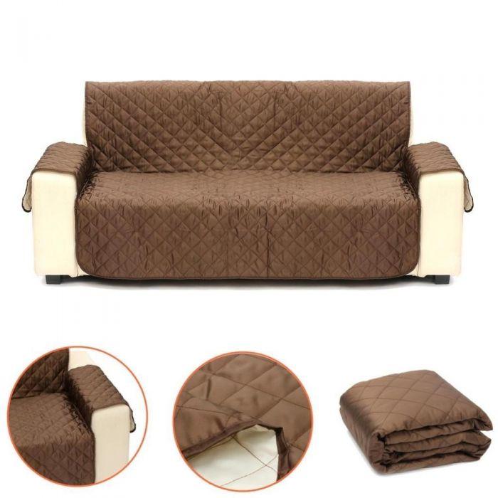 Husa de protectie reversibila pentru canapea 2 locuri