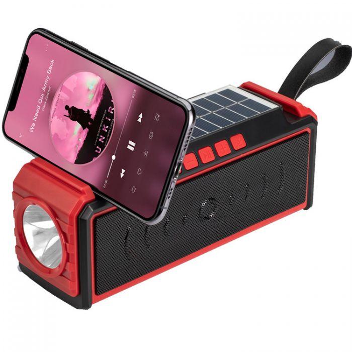 Boxa solara bluetooh MF209 portabila, lanterna incorporata, suport telefon