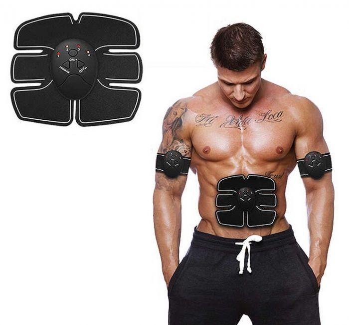 Centura electrostimulare fitness pentru abdomen
