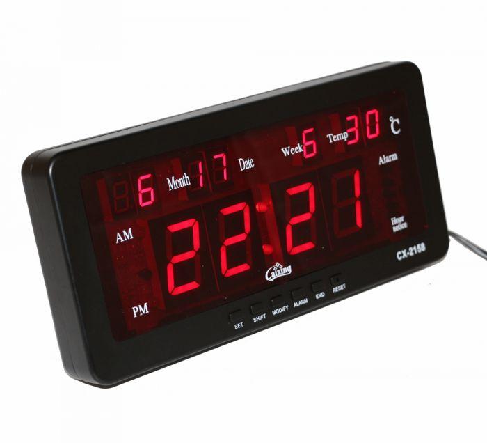 Ceas LED electronic cu calendar si termometru CX-2158