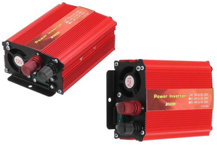 Invertor de tensiune auto, putere 500W, 12v-220v