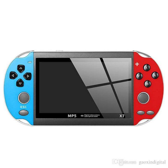Consola portabila gaming cu display 5.1 inch, peste 2000 jocuri instalate