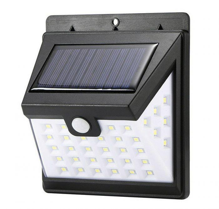 Lampa solara 40 LED cu senzor lumina si senzor miscare