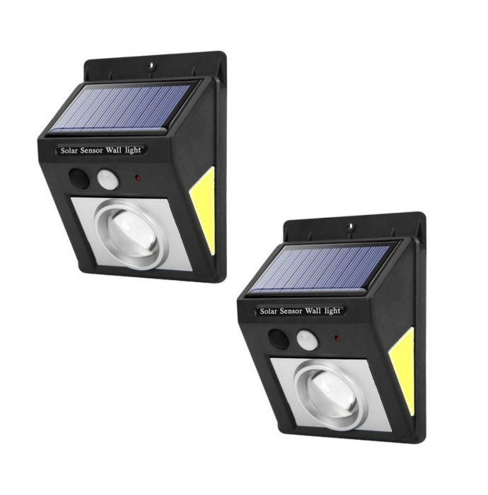 Set 2 Lampi solare 32 LED, rezistente la apa, lumina alba-rece