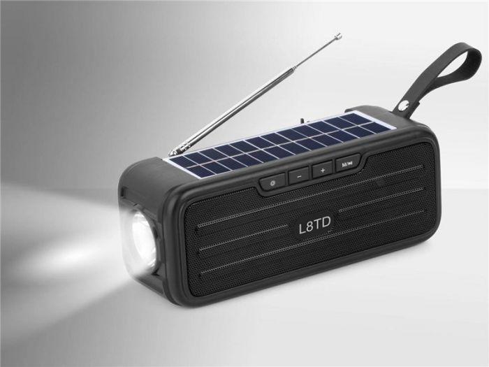 Boxa solara bluetooh LTD8 portabila, lanterna incorporata