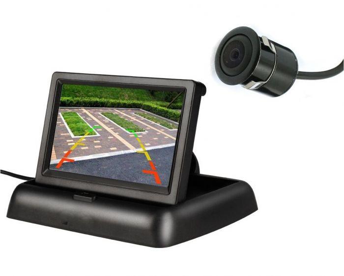 Set Monitor Pliabil TFT 4.3 inch si Mini Camera auto Marsarier Night Vision