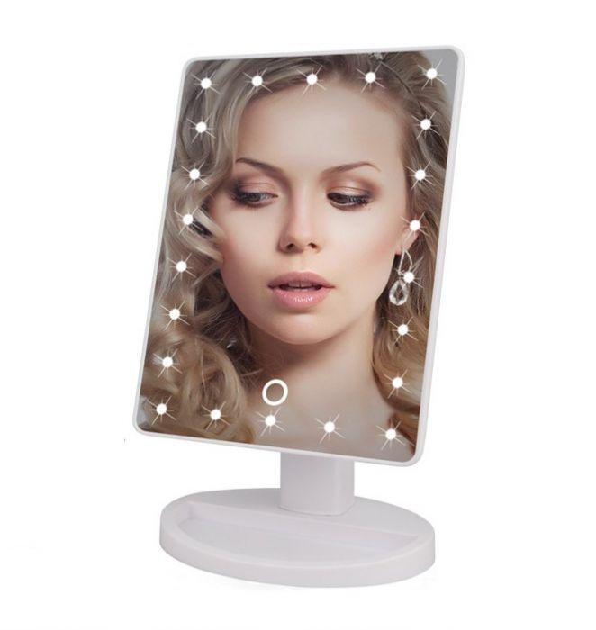 Oglinda de machiaj cu 22 LED, buton touch