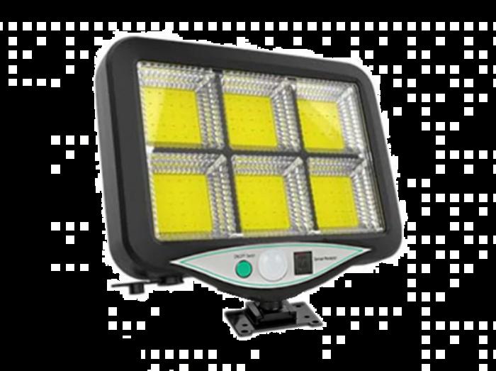 Proiector cu panou solar separat + telecomanda,120 LED