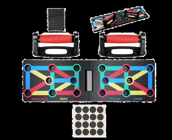 Placa de fitness pentru flotari clingo 9 functii