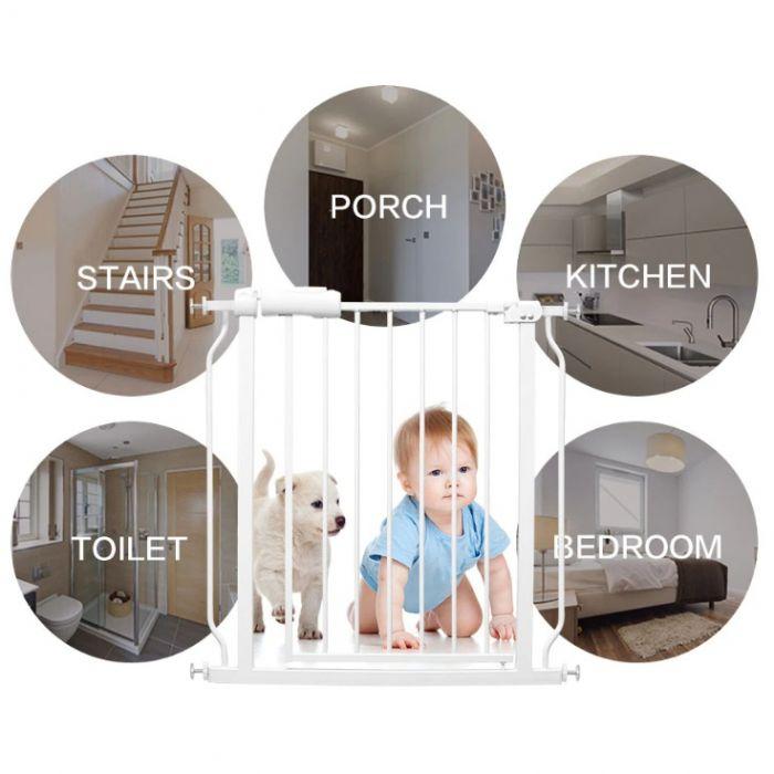 Bariera metalica, extensibila, cu dispozitiv de blocare, pentru copii si animale