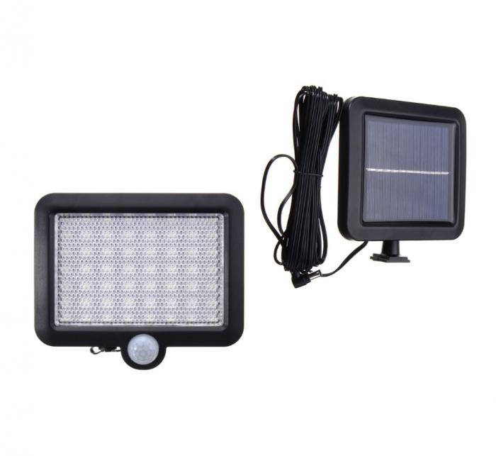 Proiector solar 56LED cu senzor lumina si senzor miscare