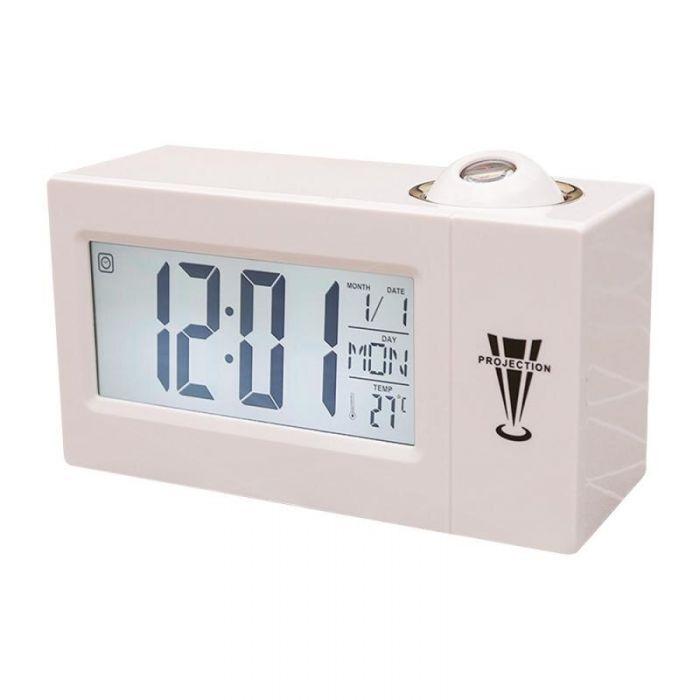 Ceas cu Proiectie, cu Alarma si Termometru Digital DS-618, Functii Snooze si Voice Control