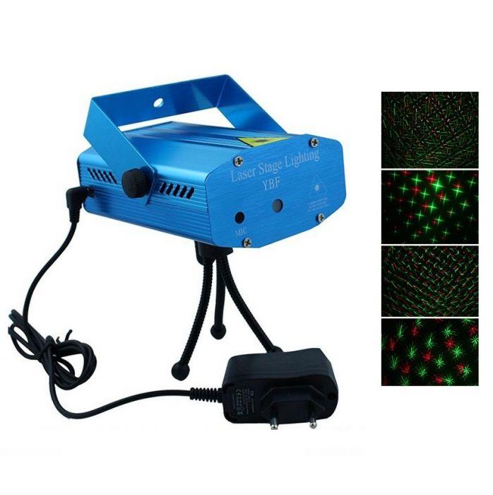 Mini proiector laser cu 2 diode, rosu-verde