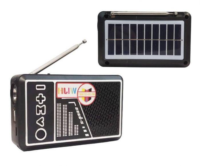 Radio Solar Bluetooth 318 BT cu lanterna laterala
