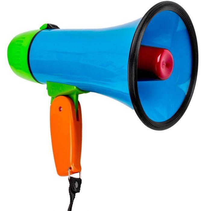Megafon cu 3 functii: vorbire, inregistrare, redare, efecte sonore