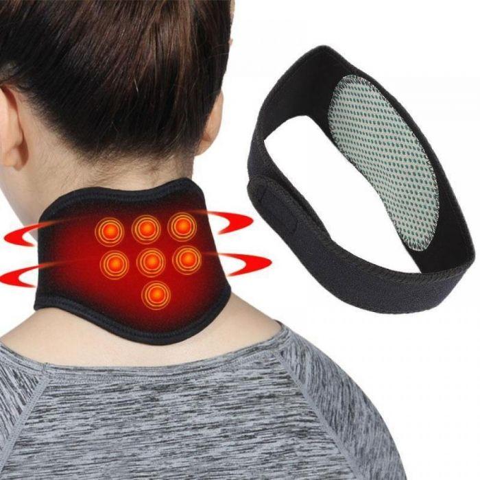 Guler magnetic cervical pentru dureri de cap si gat