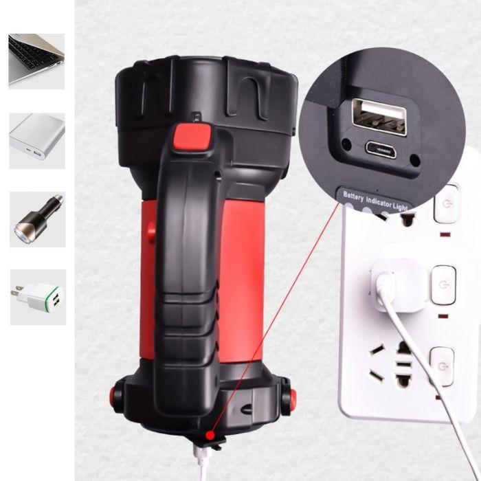 Lanterna puternica T80 cu functie de baterie externa
