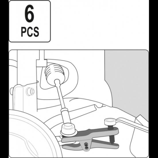 Trusa Presa 6 piese extractoare pivoti, rotule, capete de bara