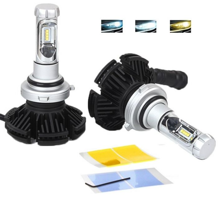 Set 2 becuri LED auto X3 H7 cu 3 Culori